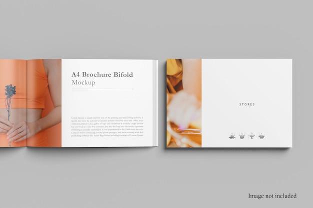 Inaugurado e cover landscape magazine mockup design