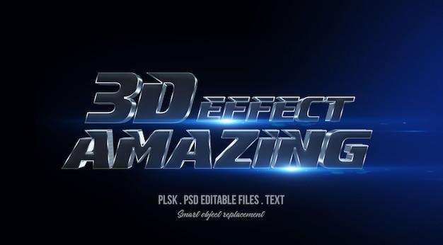 Incrível maquete de efeito de estilo de texto 3d com luzes