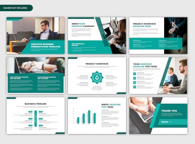 Inicialização criativa mínima e modelo de apresentação de negócios