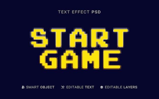 Iniciar o design do efeito de texto do jogo