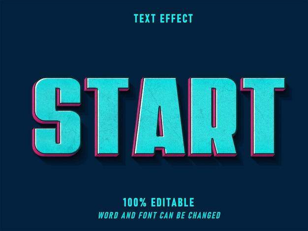 Iniciar texto efeito estilo retro fonte fonte editável estilo sólido