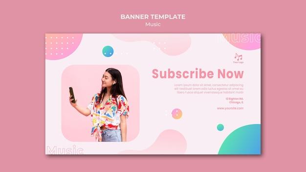 Inscreva-se agora modelo da web de banner de música
