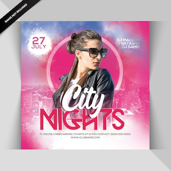 Insecto do partido da noite da cidade