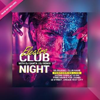 Insecto do partido da noite do clube