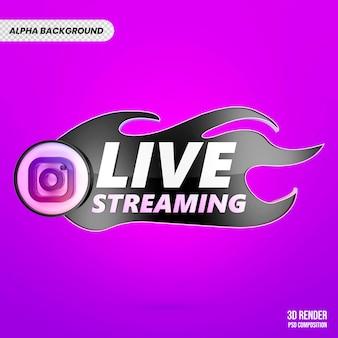 Instagram live 3d render