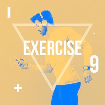 Instagram post fundo com conceito de exercício