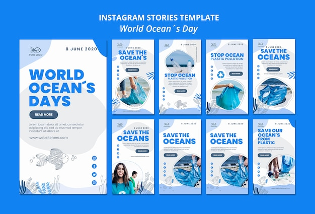 Instagram stories ocean day