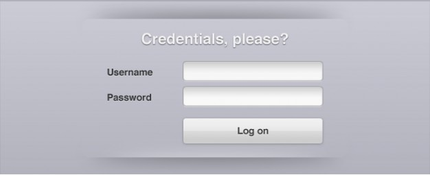 Interface de login