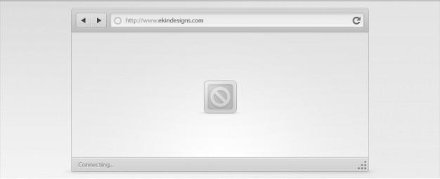 Interface do navegador chrome