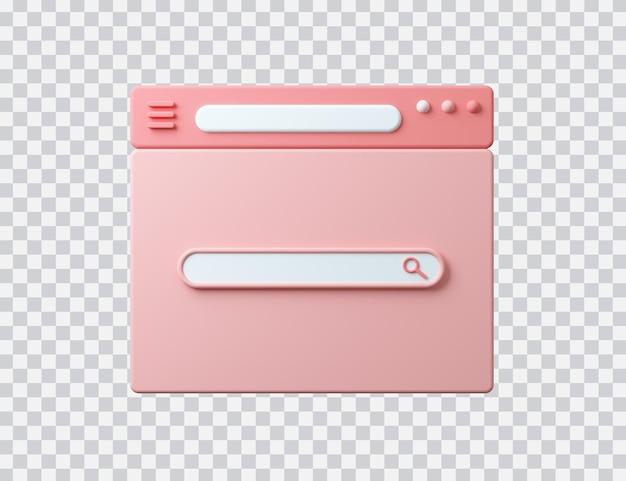 Interface do navegador com barra de pesquisa