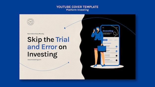 Investimento na plataforma do modelo de capa do youtube