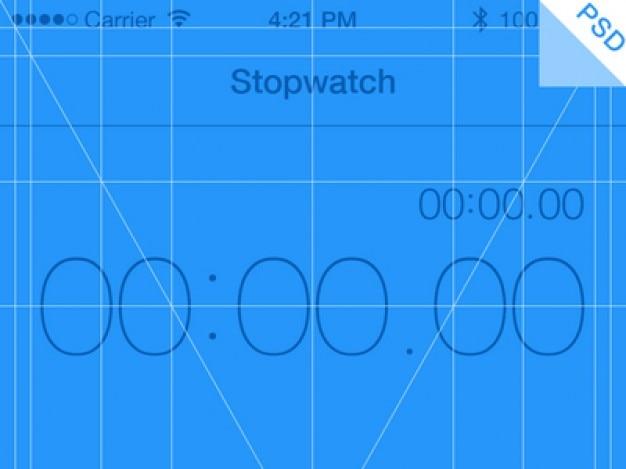 Iphone app grade azul psd