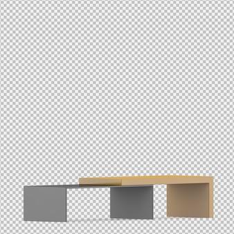 Isométrica gabinete 3d render
