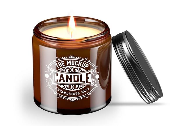Jar candle mockup