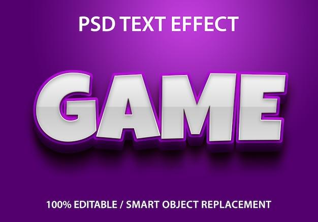 Jogo de efeito de texto editável