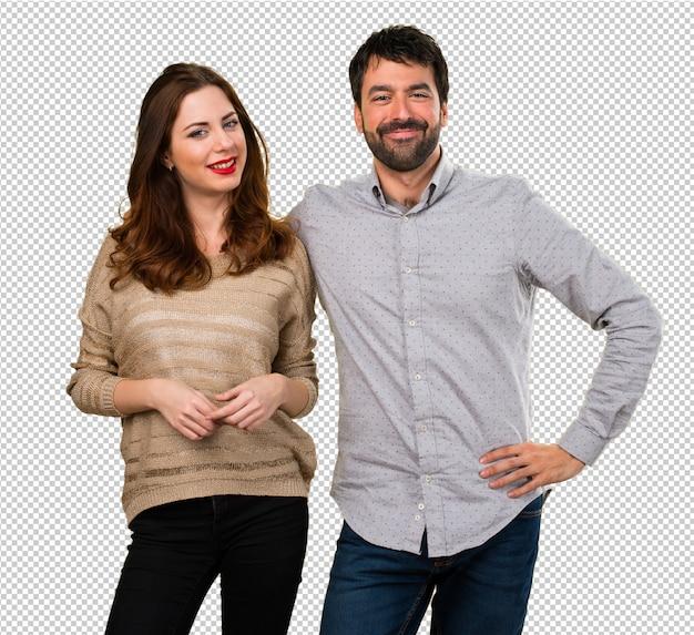Jovem casal feliz