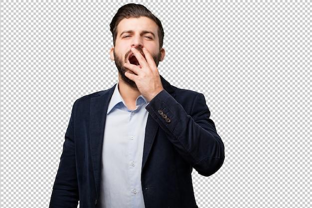 Jovem empresário com um telefone móvel