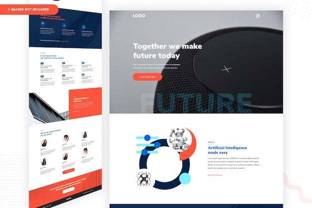 Juntos, criamos a página futura do site
