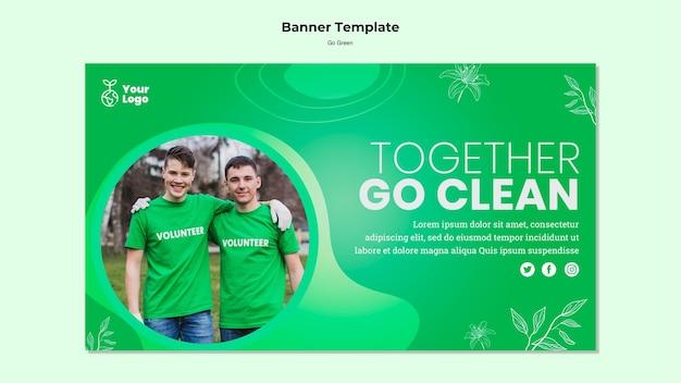 Juntos, vá modelo de banner limpo