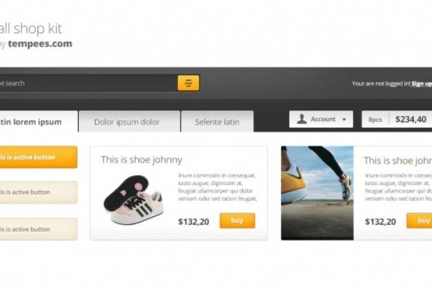 Kit comercial com menu e produtos