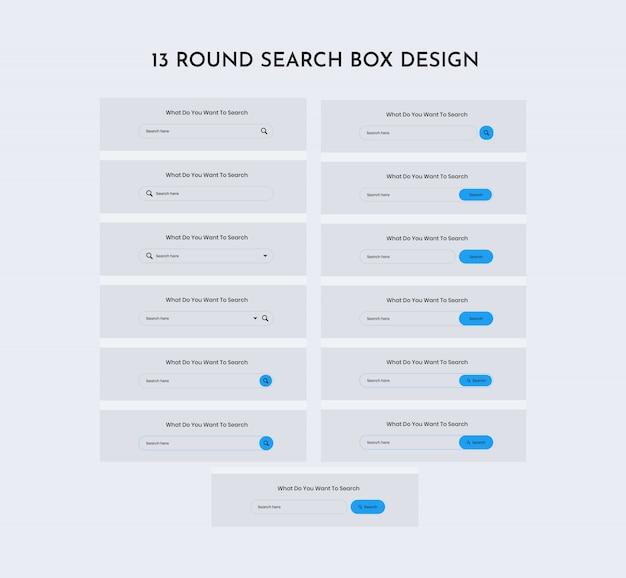 Kit de interface da web de pesquisa redonda