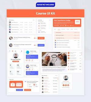 Kit de interface do usuário do componente do curso