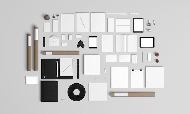 Kit de maquete de marca e papelaria