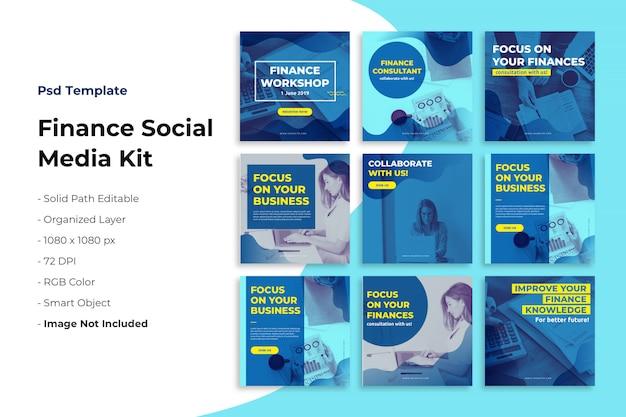 Kit de mídia social de finanças