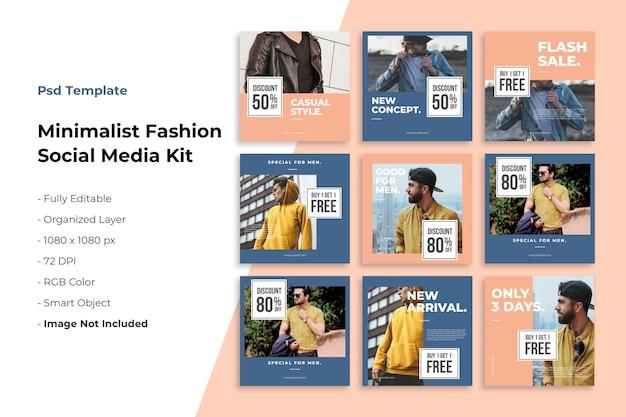Kit de mídia social do minimalismo