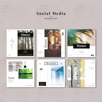 Kit de modelos de mídia social