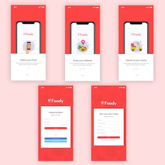 Kit de ui do foody mobile app