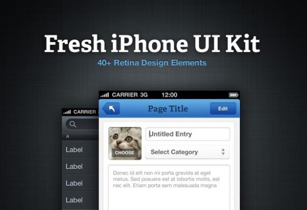 Kit iphone fresco