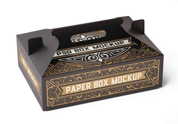 Kraft box mockup com alça