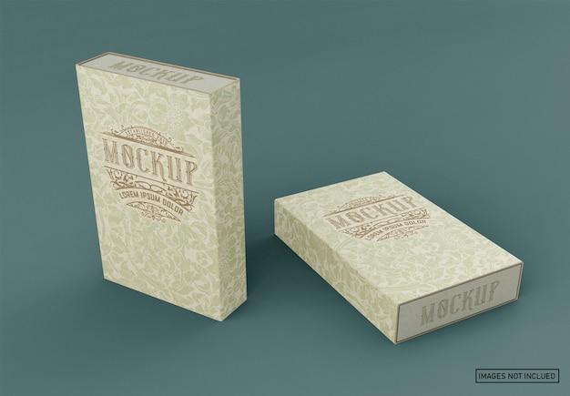 Kraft box mockup Psd Premium