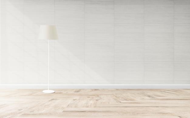 Lâmpada de pé em uma sala de estar