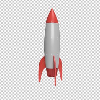 Lançamento de foguete renderização em 3d