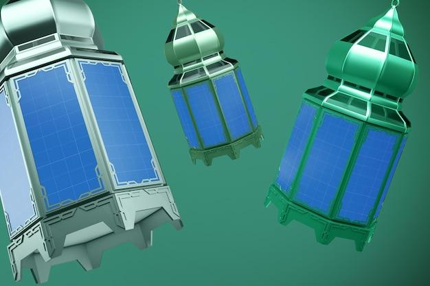 Lantern design mockup