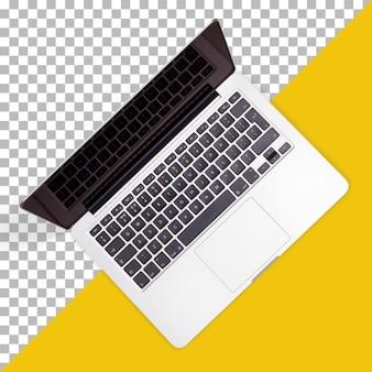 Laptop elegante com vista recarregável para o trabalho
