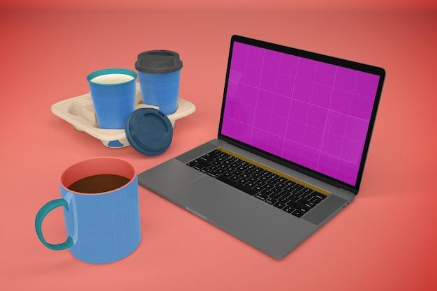 Laptop no café