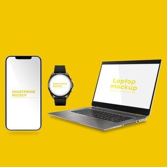 Laptops smartphones e smartwatch