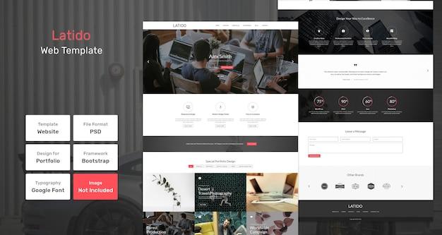 Latido web template