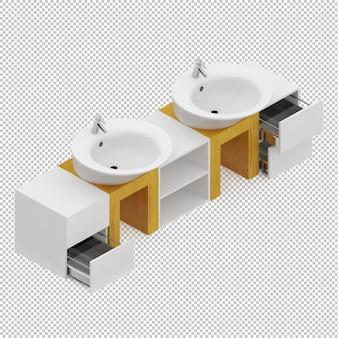 Lavatórios isométricos