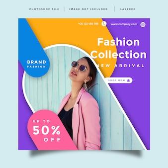 Layout de banner de promoção de moda