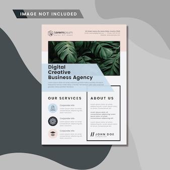 Layout de folheto de negócios corporativos