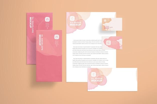 Layout de maquete de identidade da marca Psd Premium
