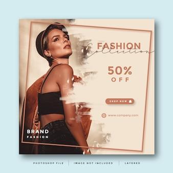 Layout de promoção de mídia social de moda