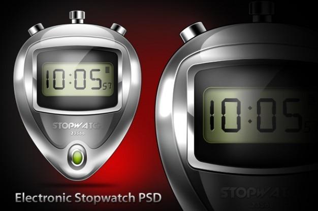 Lectronic cronômetro psd e ícone