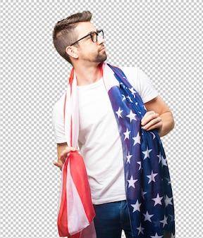 Legal homem orgulhoso da américa