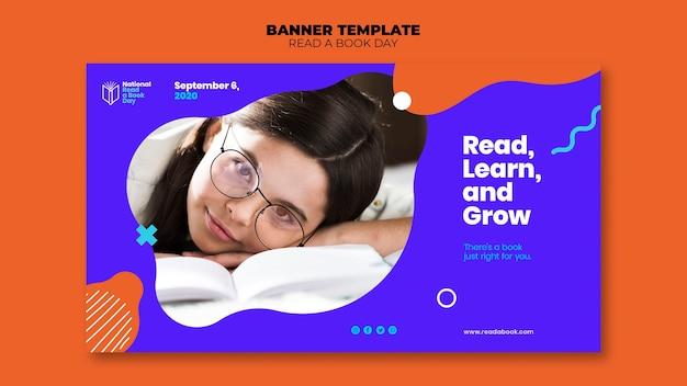 Leia um modelo de banner para o dia do livro