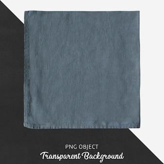 Lenço de linho azul escuro transparente